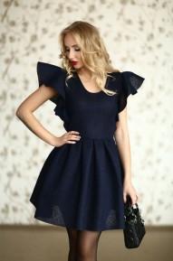 Платье с крылышками Fly синие