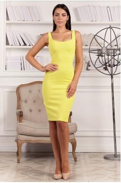 Платье-футляр Jane желтое