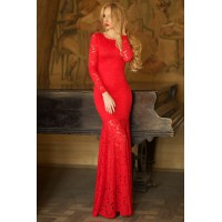 Платье Jacklin красное