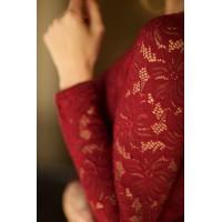 Кружевное платье Jacklin винного цвета