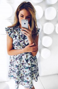 Платье А-силуэта Lusy в цветочек