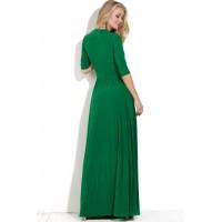 Длинное платье с декольте Maybe травяного цвета
