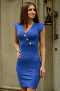 Платье Megan васильковое