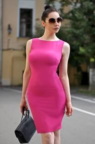 Платье-футляр Meikon фуксия