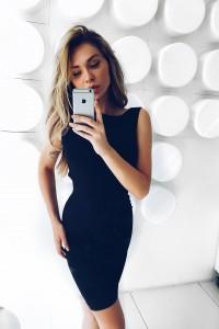 Платье-футляр Meikon черный