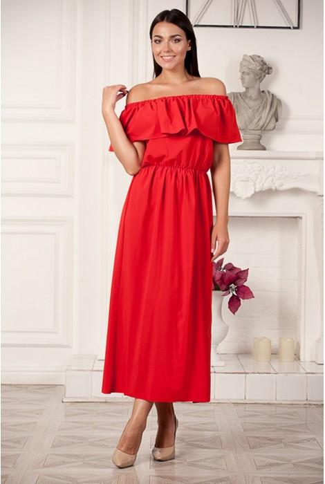Платье Melony (макси)  красное