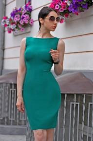 Платье-футляр Meikon изумруд