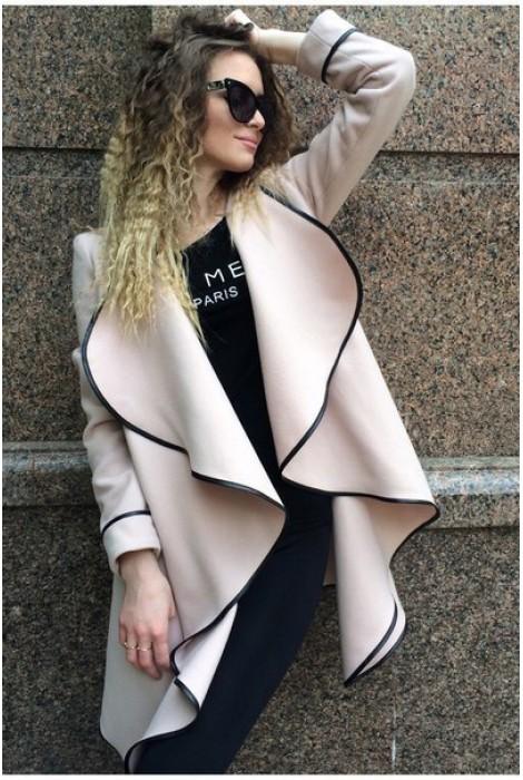 Пальто-накидка пудровая
