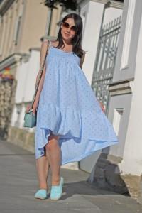 Платье Mirel голубое