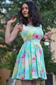 Платье Princess акварель