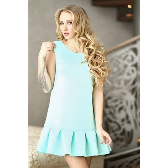 Трапециевидное платье  Adit мятного цвета