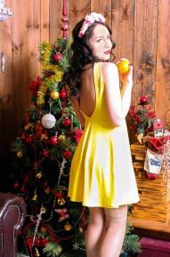 Платье с открытой спиной Alexia