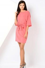 Платье-кимоно Selena коралловое